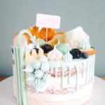 Mintgroene taart